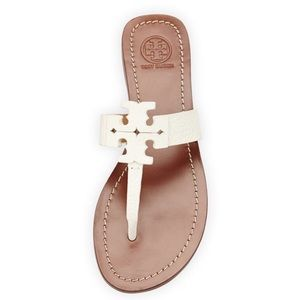 Tory Burch white Moore thong sandals